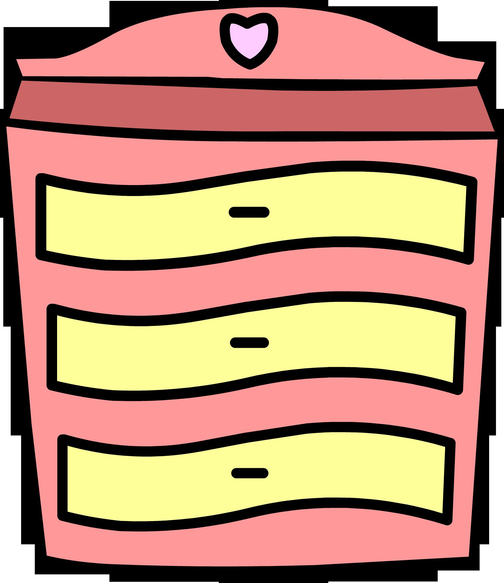 Furniture clipart dresser. Pink club penguin wiki