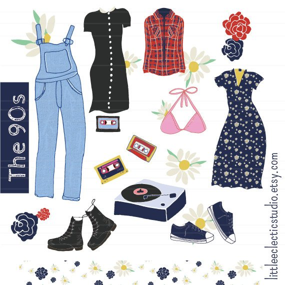 Clothes clipart fashion. S clothing illustration
