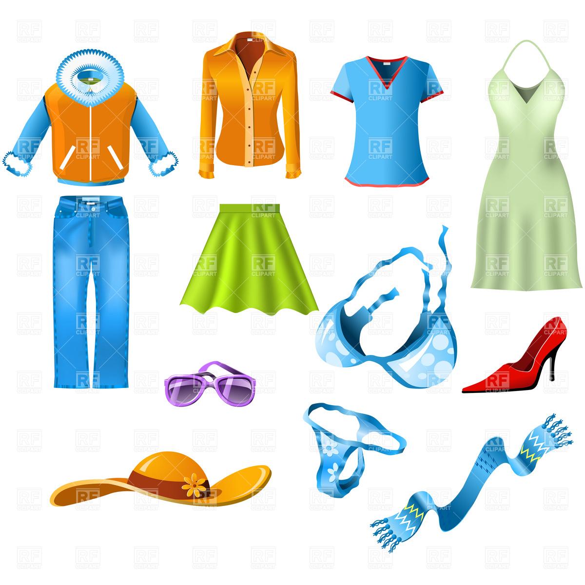 Fashion kid clipartix . Clothes clipart women's clothing