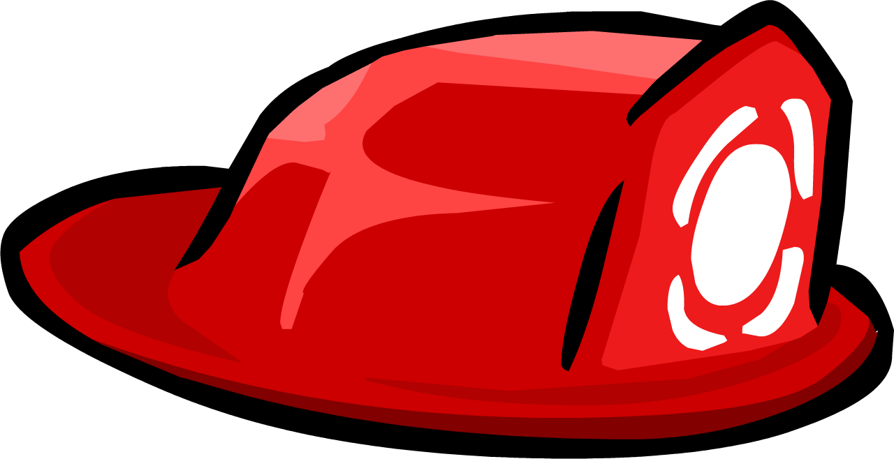 Fireman clipart boot. Firefighter hat club penguin