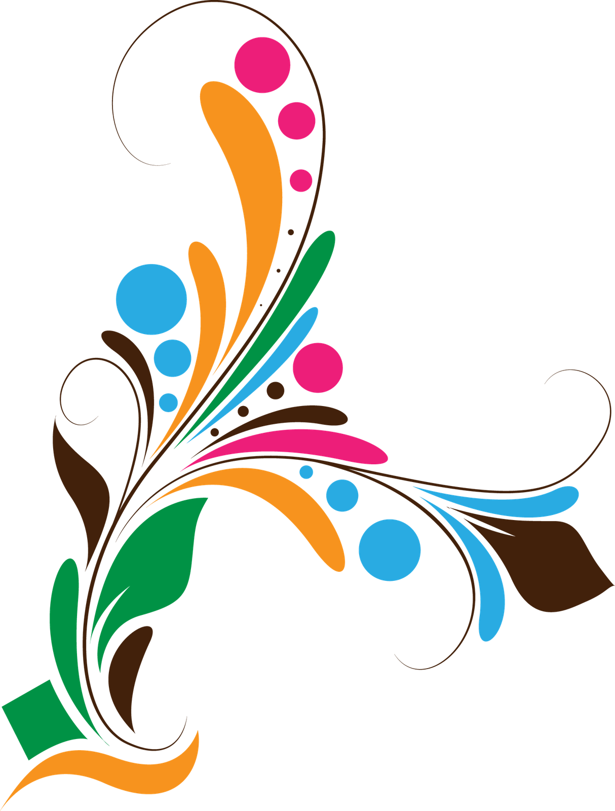 Floral design backgrounds borders. Vector images png