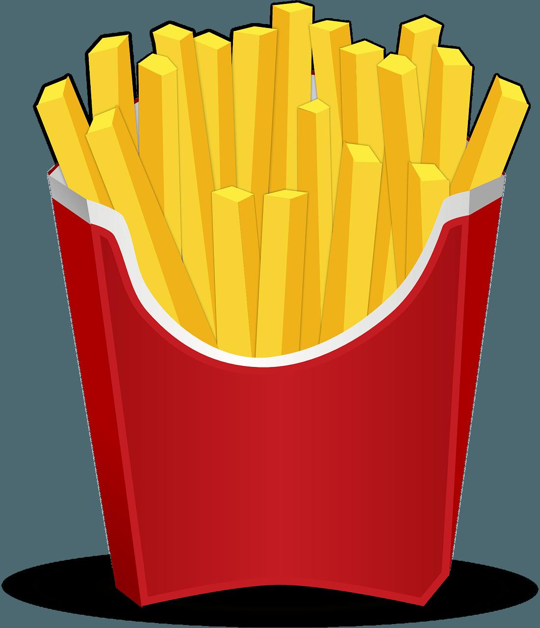 Test vocabulario sobre la. Fries clipart hotdog fry