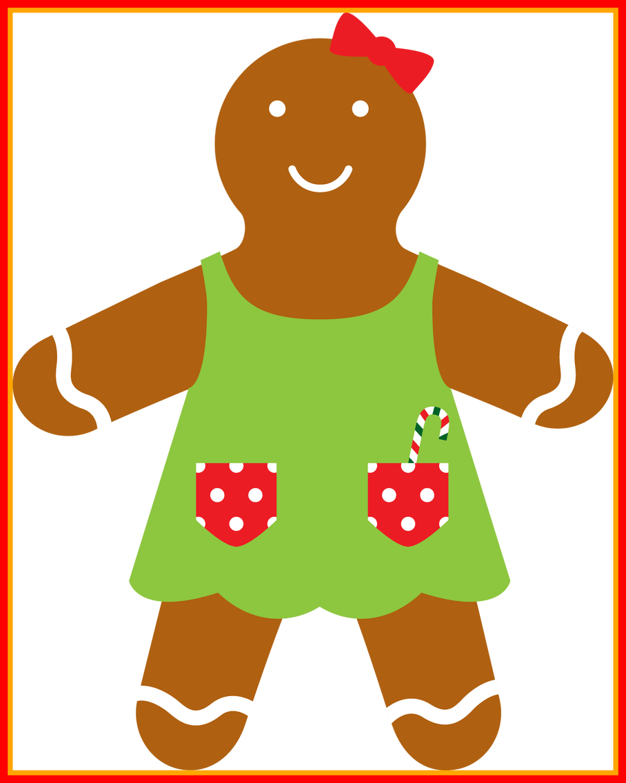 Marvelous christmas gingerb girl. Home clipart clothes