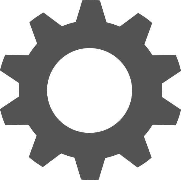 Gear silhouette at getdrawings. Steampunk clipart cogwheel