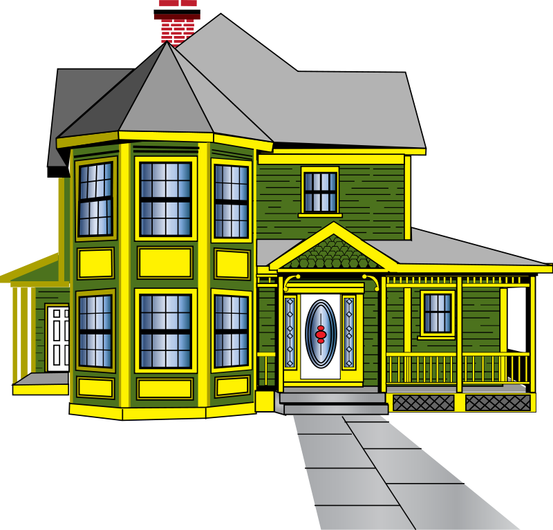 houses clipart living room