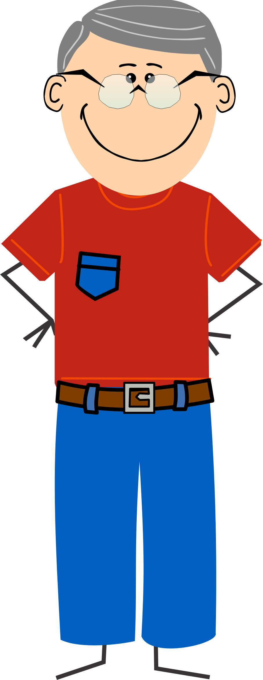 Jeans t pencil and. Clipart shirt cartoon