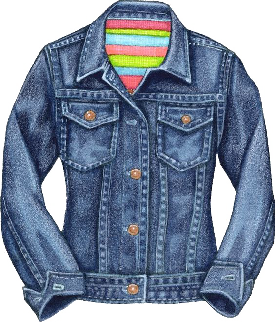 Denim jacket clip art. Clipart shirt jeans
