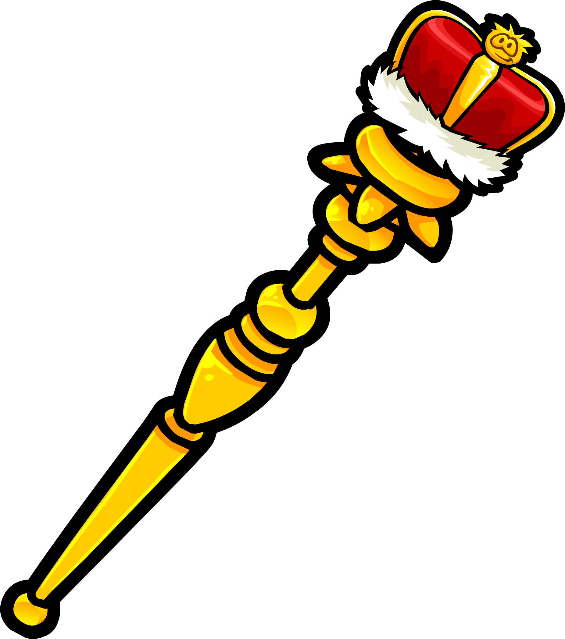 Royal club penguin rewritten. King clipart scepter