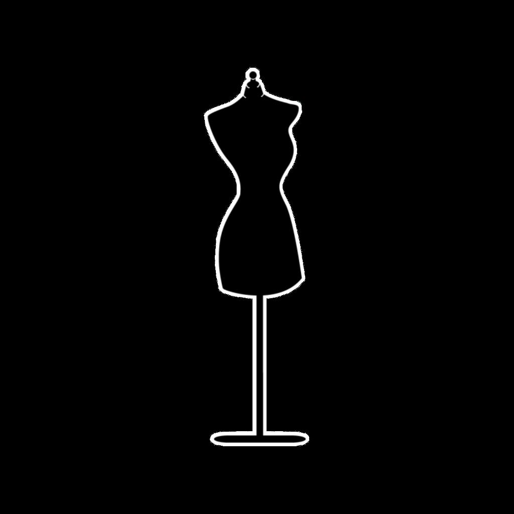 Dress form black store. Clothing clipart mannequin