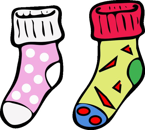 Socks clip art at. Wednesday clipart wacky clothes