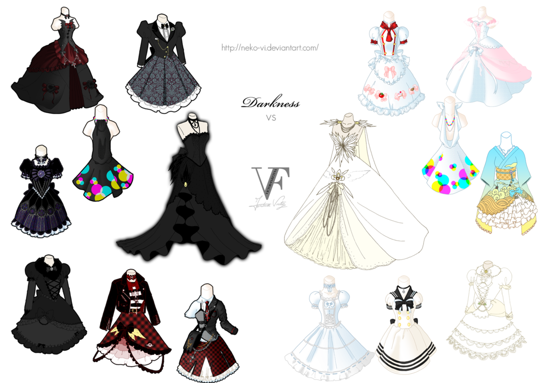 Darkness vs light collection. Clipart clothes mismatch