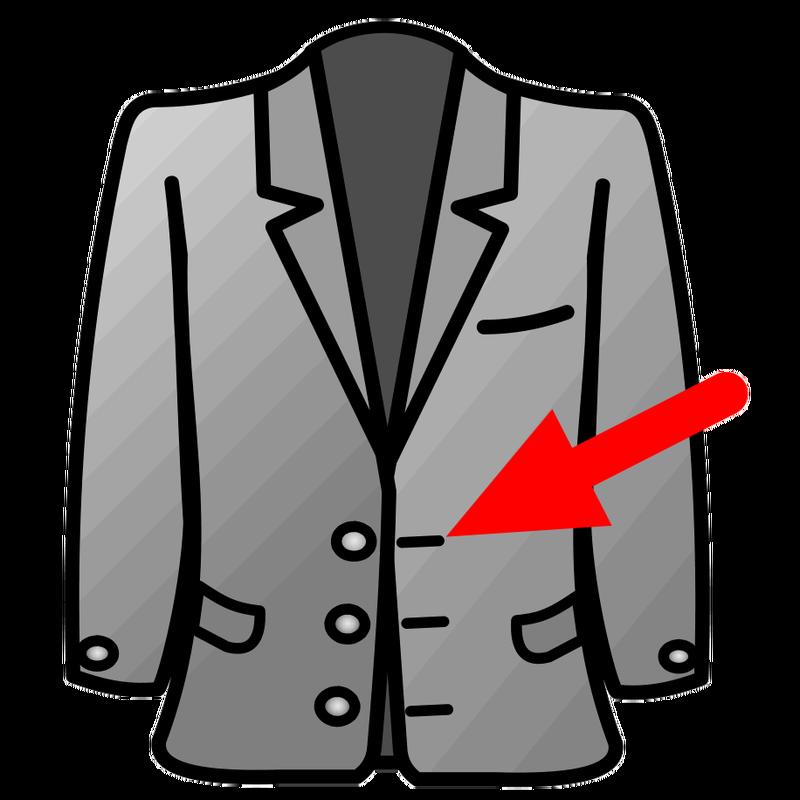 Suit clipart black blazer. Symbol clothing talksense picture