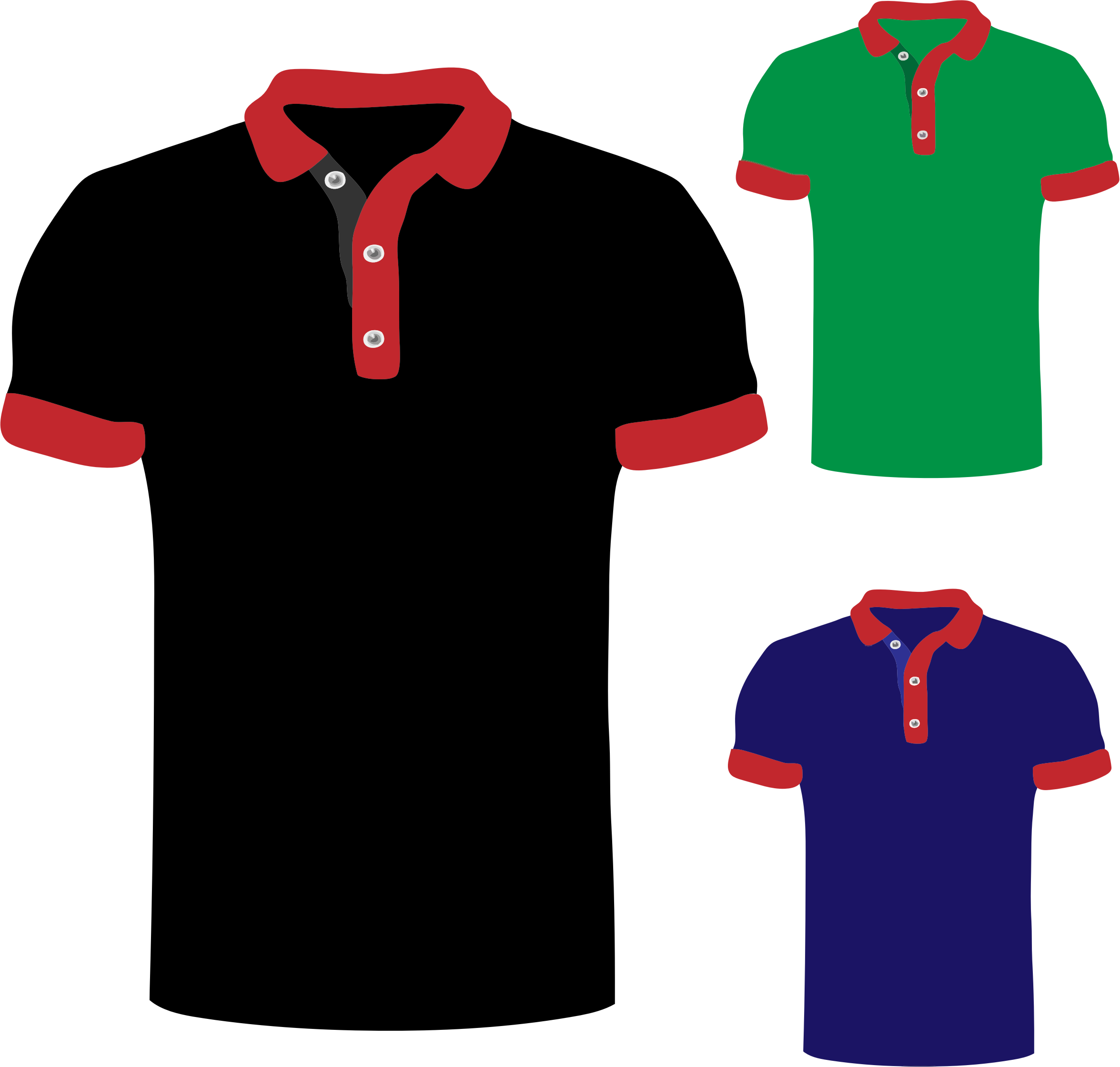 Polo shirts big image. People clipart clothes