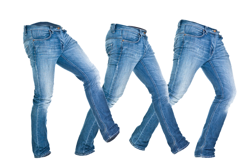 Three isolated stock photo. Clipart shirt jeans