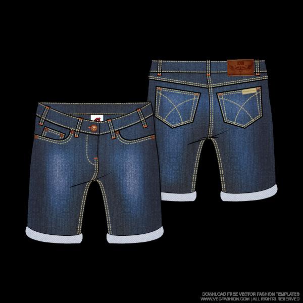 swimsuit clipart short jeans