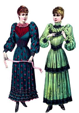 Victorian clip art two. Cool clipart fashionable