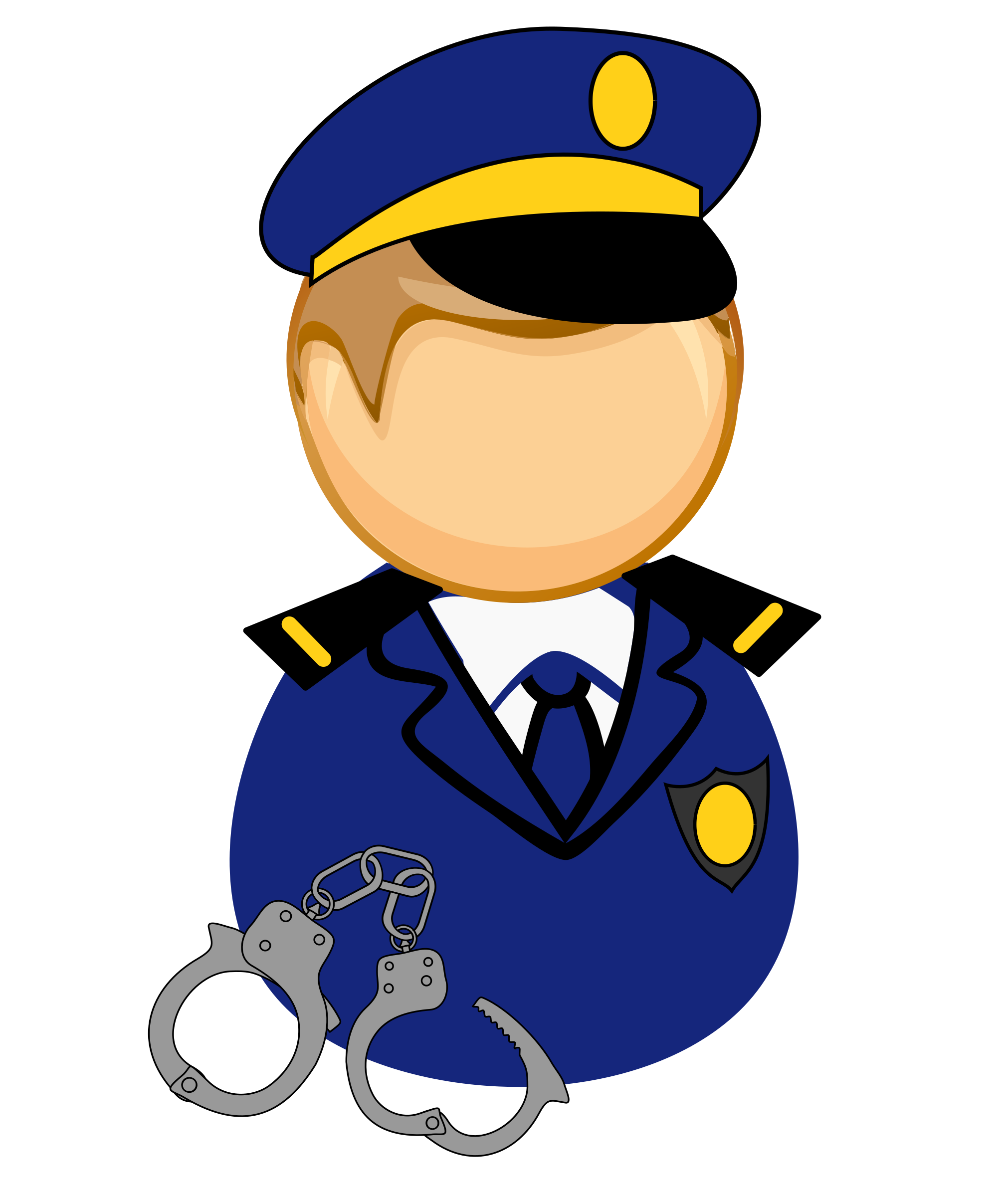 Handcuff clipart policeman. First responder icon icons