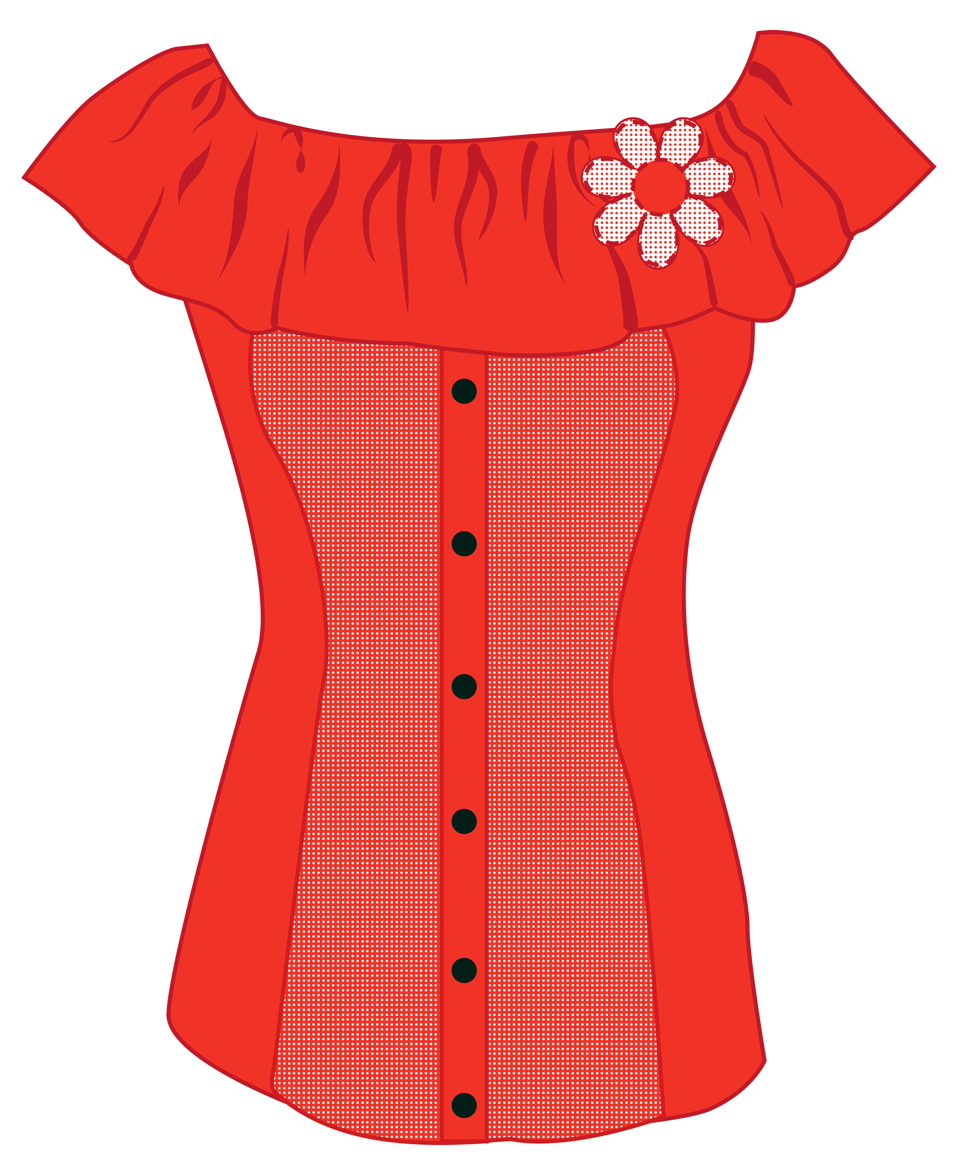 Clipart shirt woman shirt. Female red top png