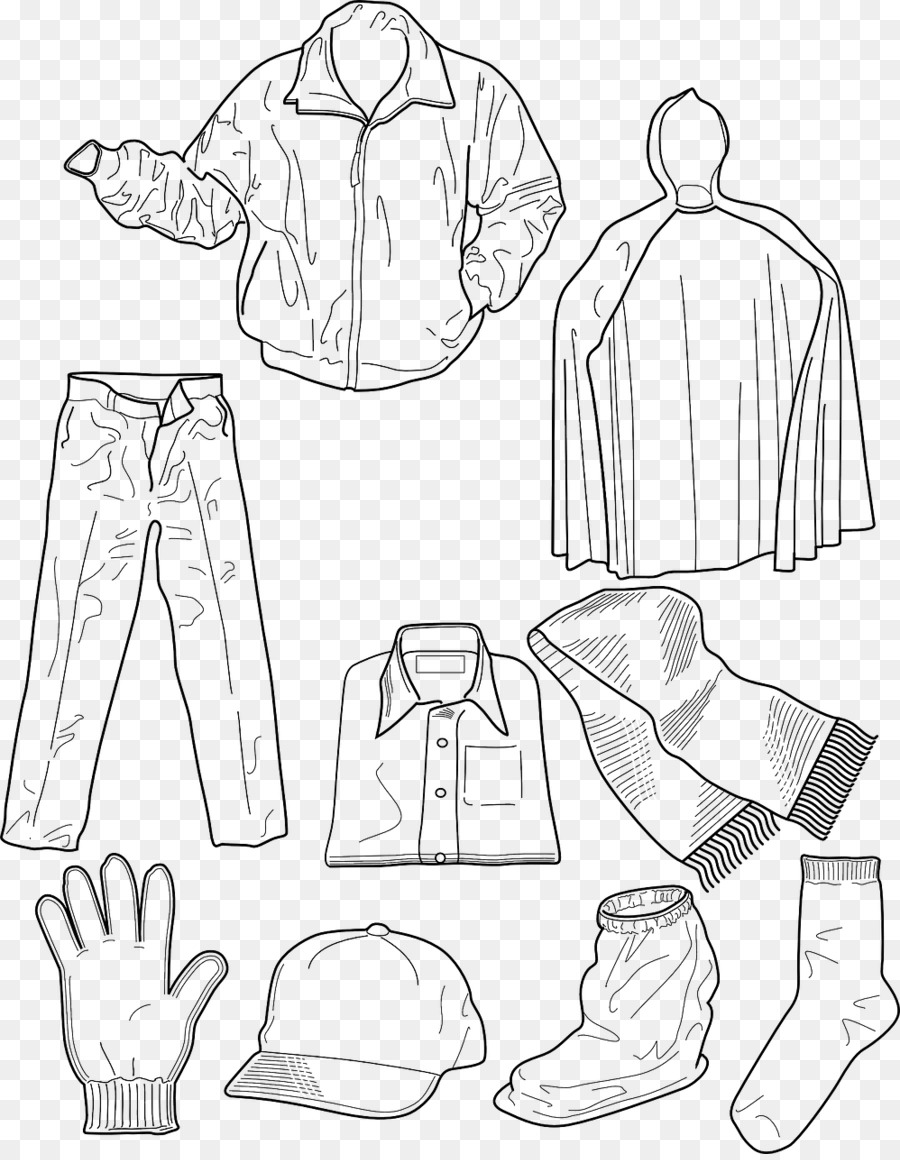 Book black and white. Clothes clipart printable