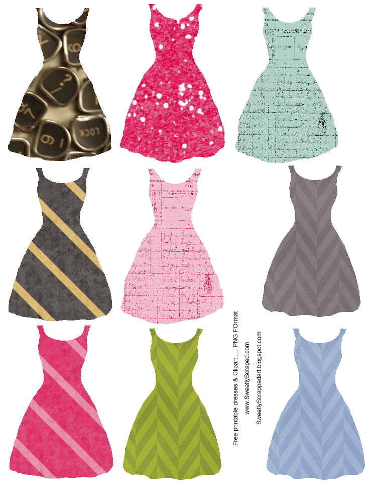 Printables and fashion gossip. Clothing clipart pink dress