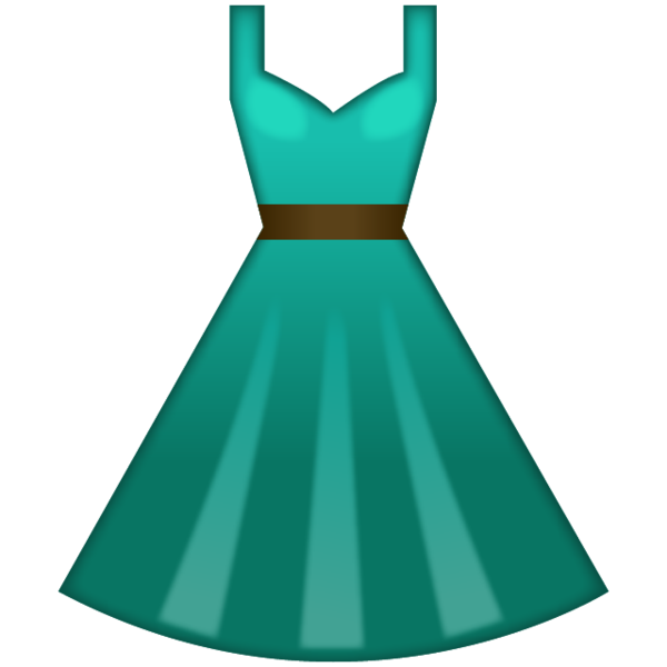 Download green dress emoji. Clipart clothes prom