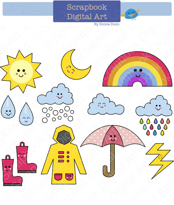 Wet clipart goods. Free day clothing cliparts
