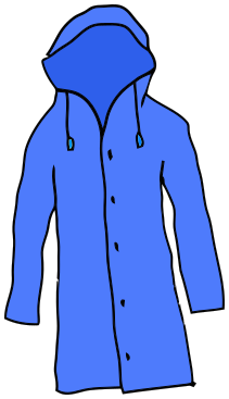 Coat clipart blue coat. Raincoat clothes jacket png