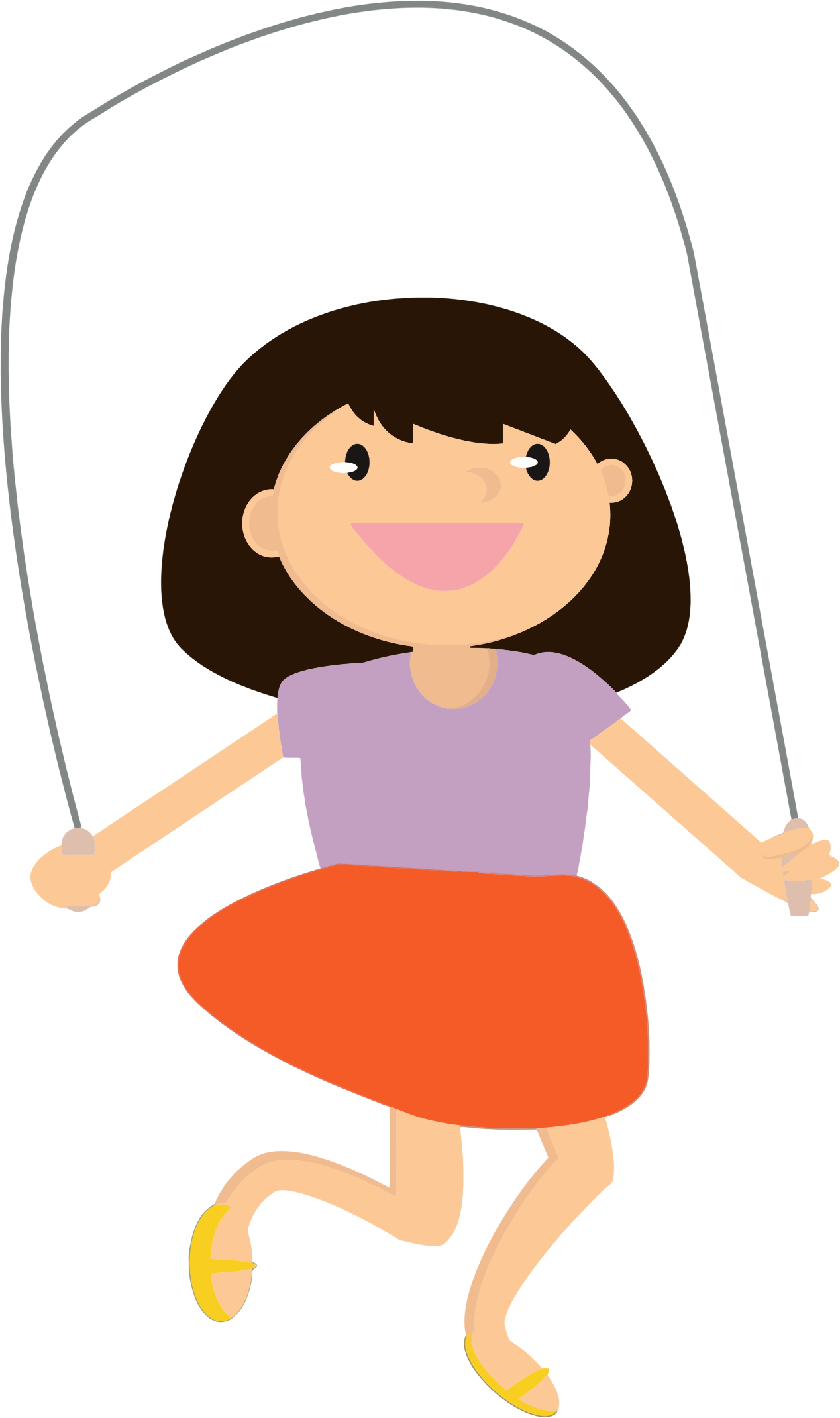 Girl rope icons png. Exercising clipart jumping jacks