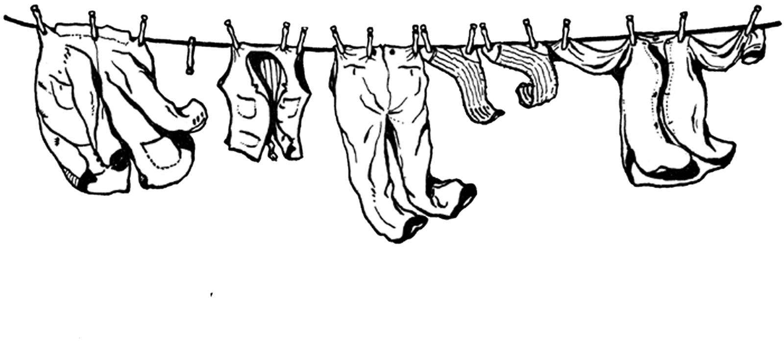 Closet clipart hanged clothes, Closet hanged clothes