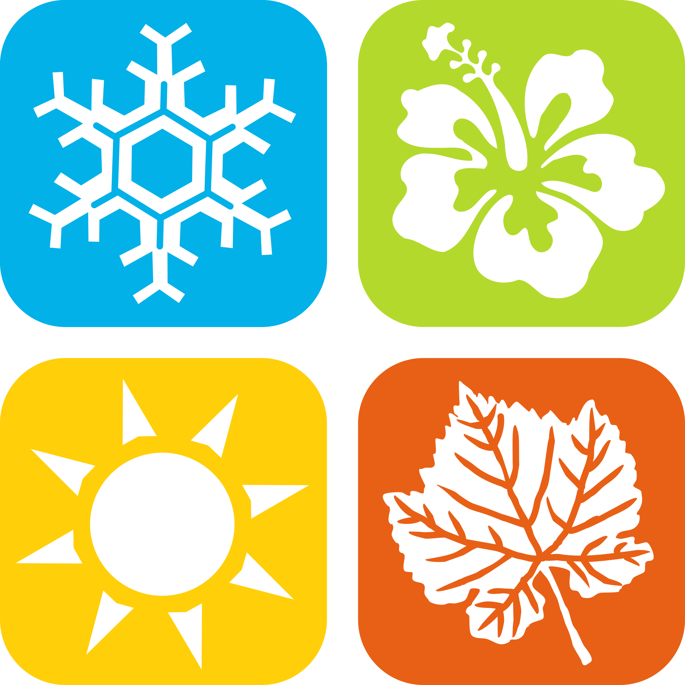 Kid clipart seasons. Four vector labs icons