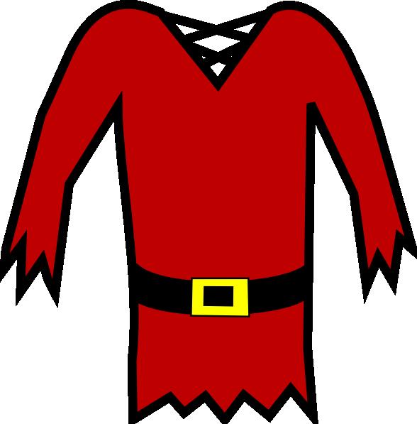 Clipart shirt cartoon. Red pirate clip art