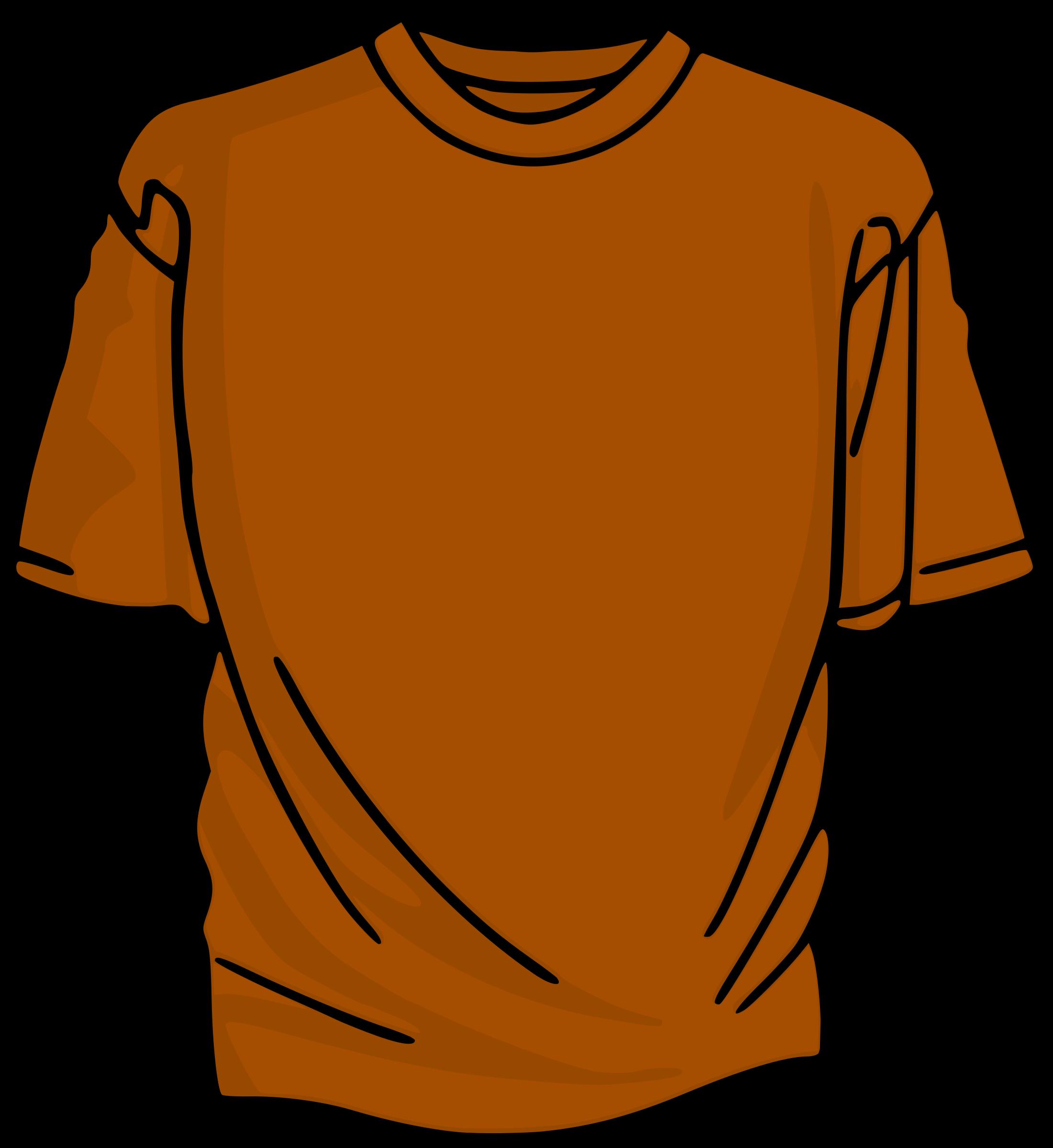 Orange t big image. Clipart shirt cartoon