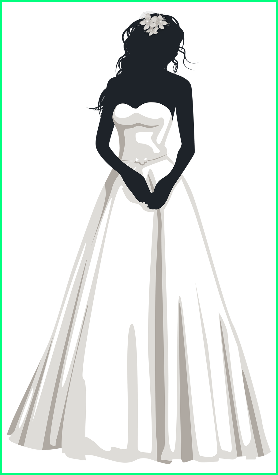 Clothing clipart silhouette. Fascinating bride png clip
