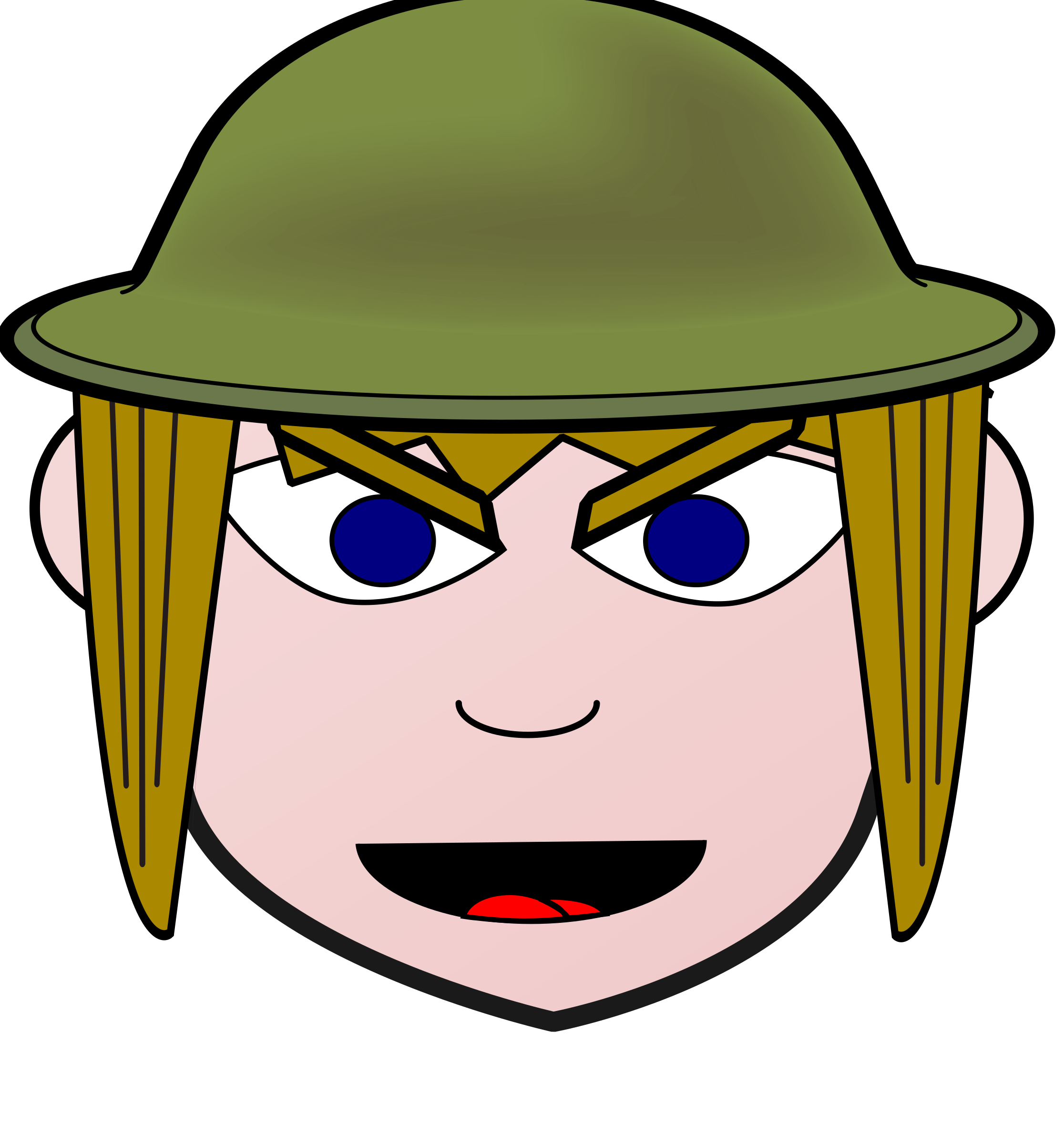Clothes clipart soldier. Angry girl big image