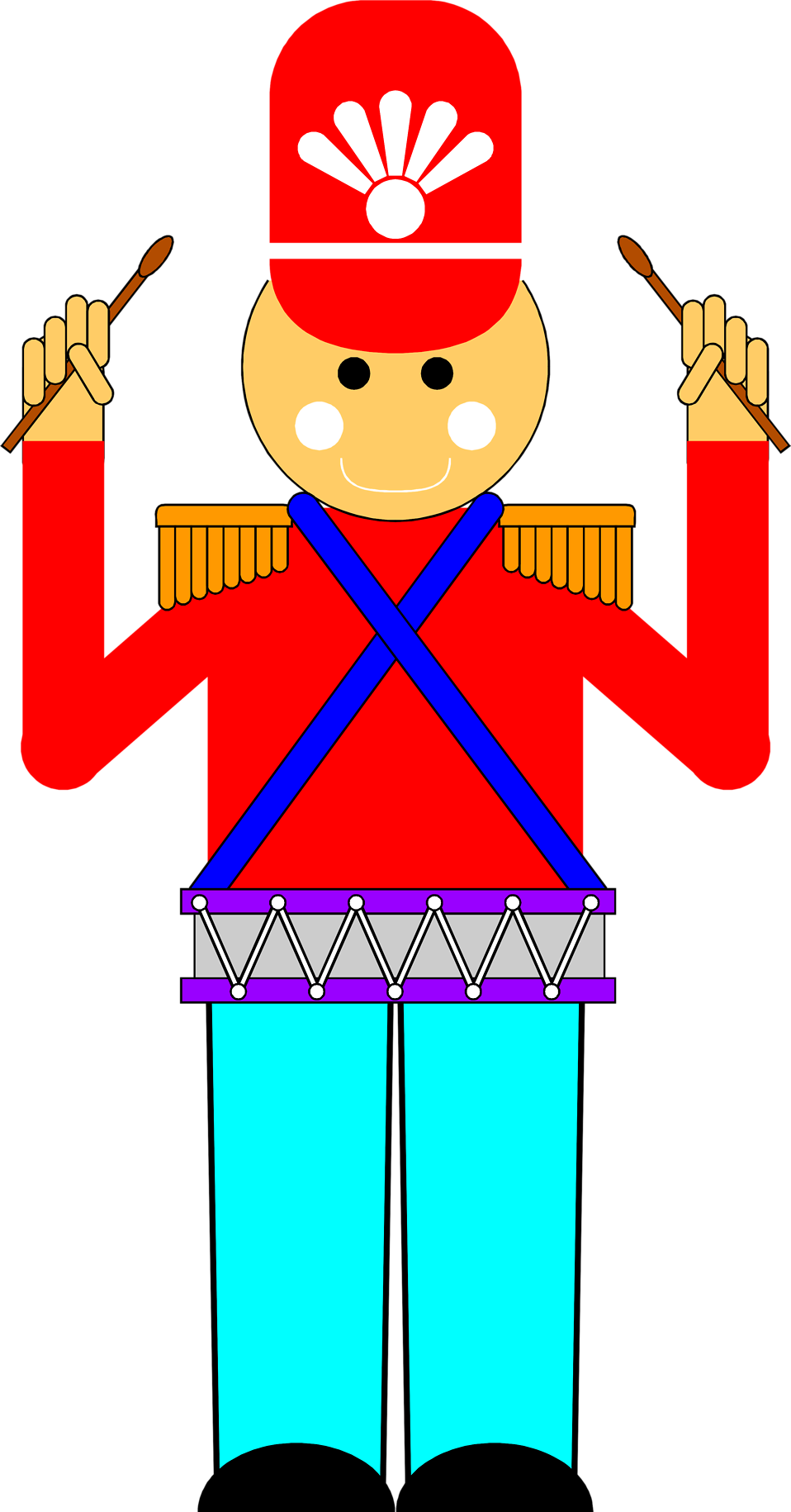 Drums clipart cartoon. Toy soldier free stock