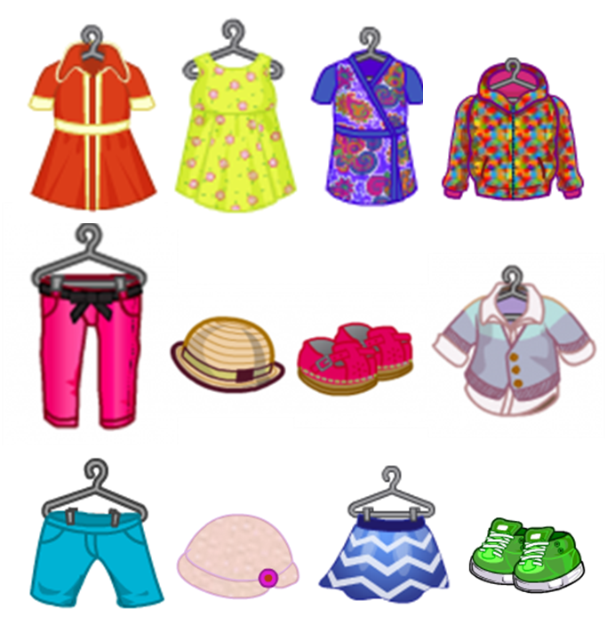 Clothing clipart mix match clothes. Season spring pencil and