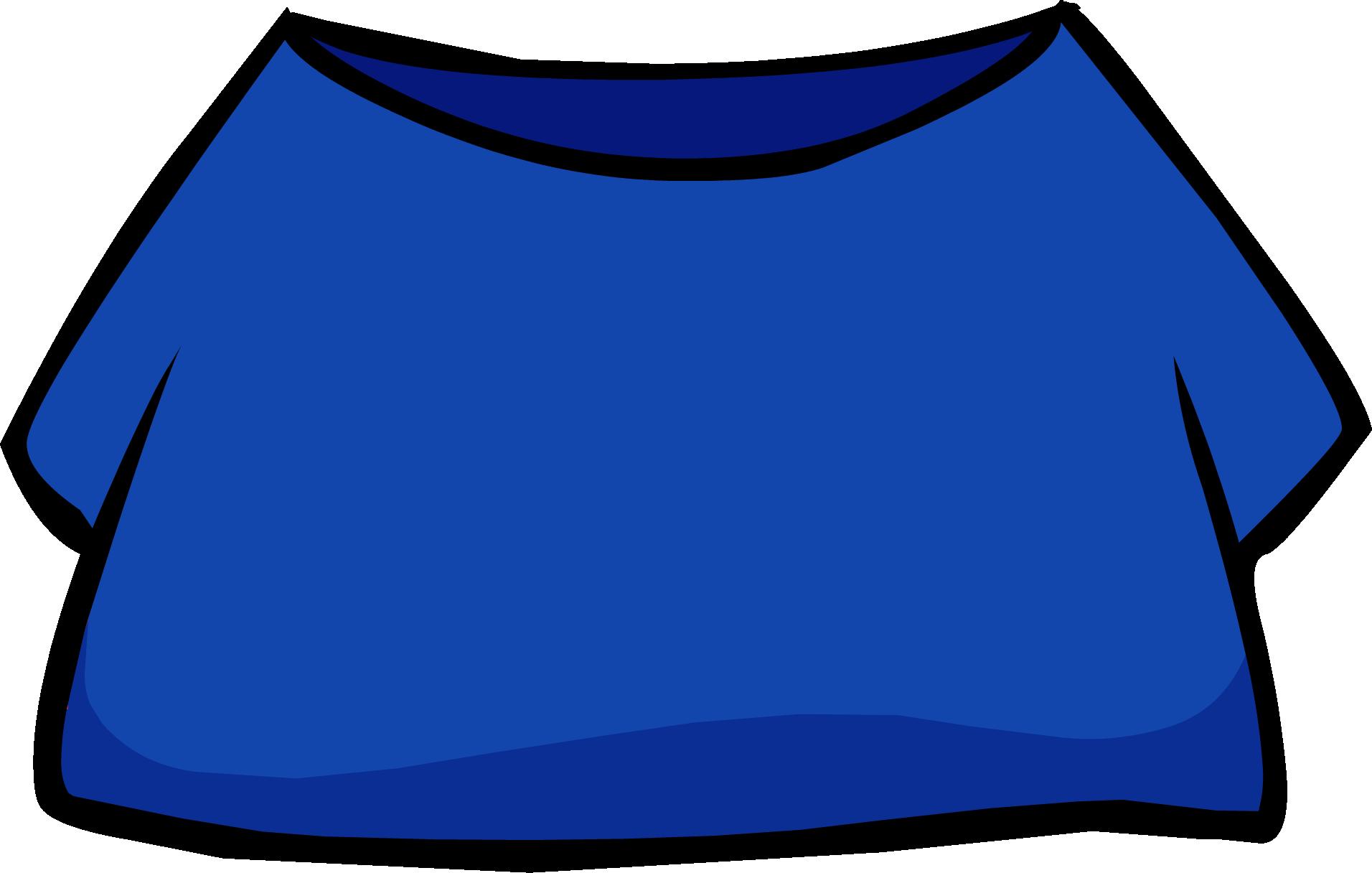 Clothing clipart clothing item. Blue shirt club penguin