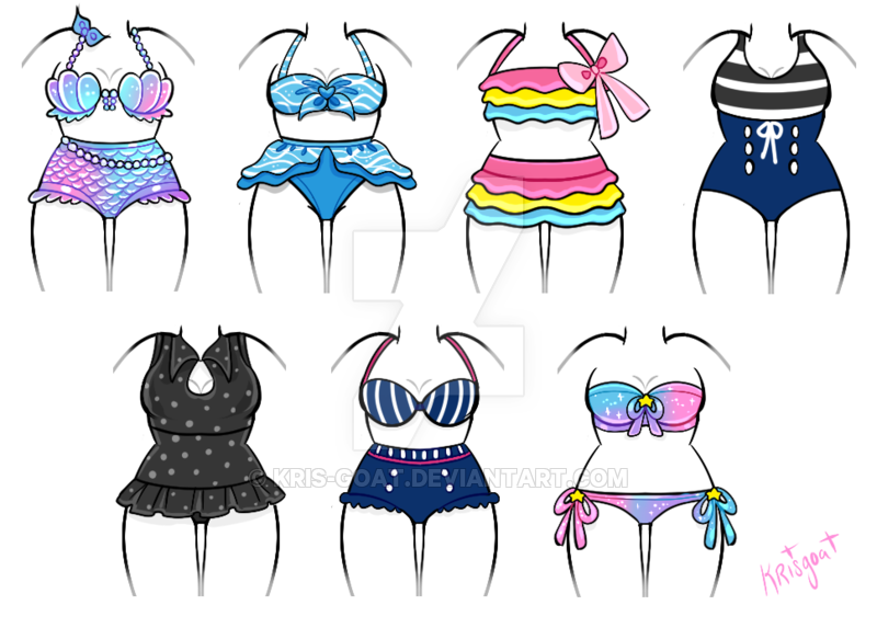 Swimsuit clipart bathing suit.  open outfit adopts