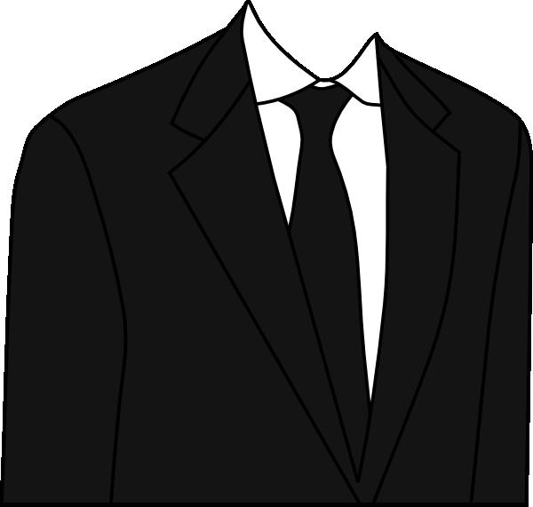 Black suit clip art. Clothes clipart tie