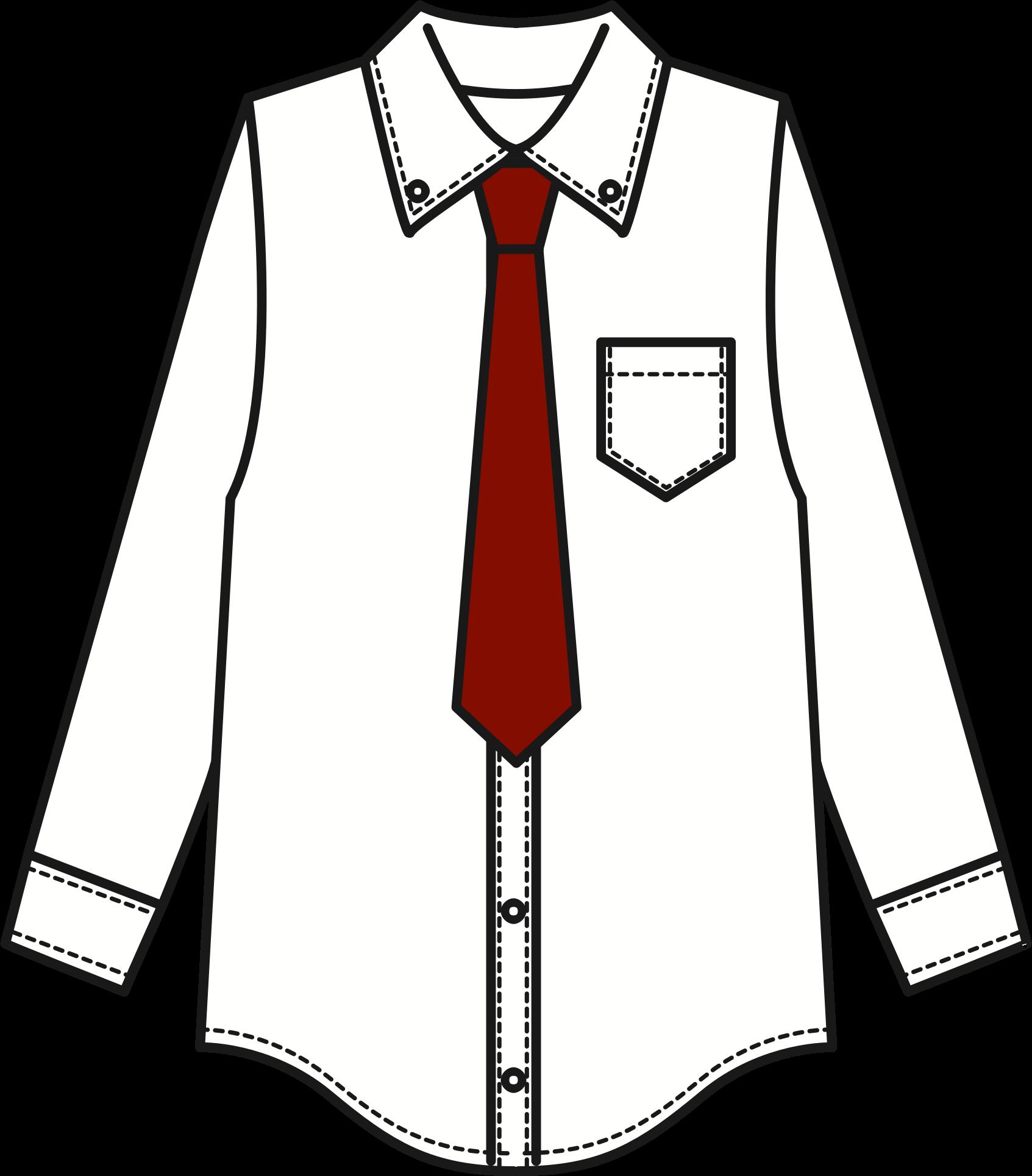 Clipart shirt uniform. White and tie big
