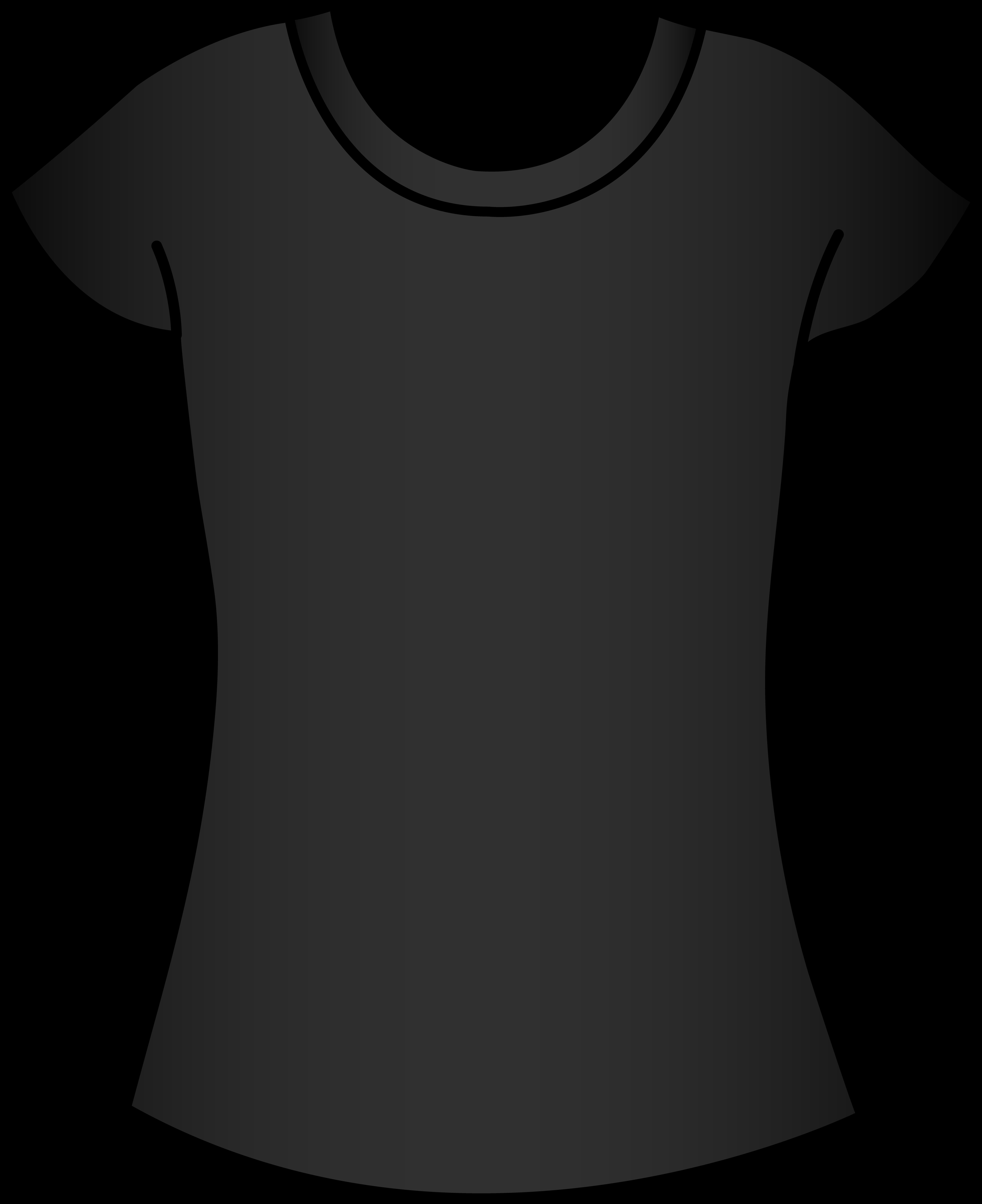 Clipart shirt gray shirt. Womens black t template