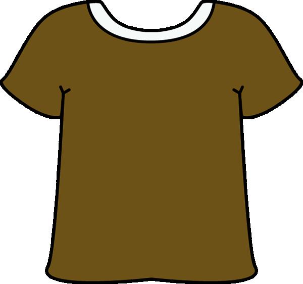 T shirt clip art. Short clipart brown shorts