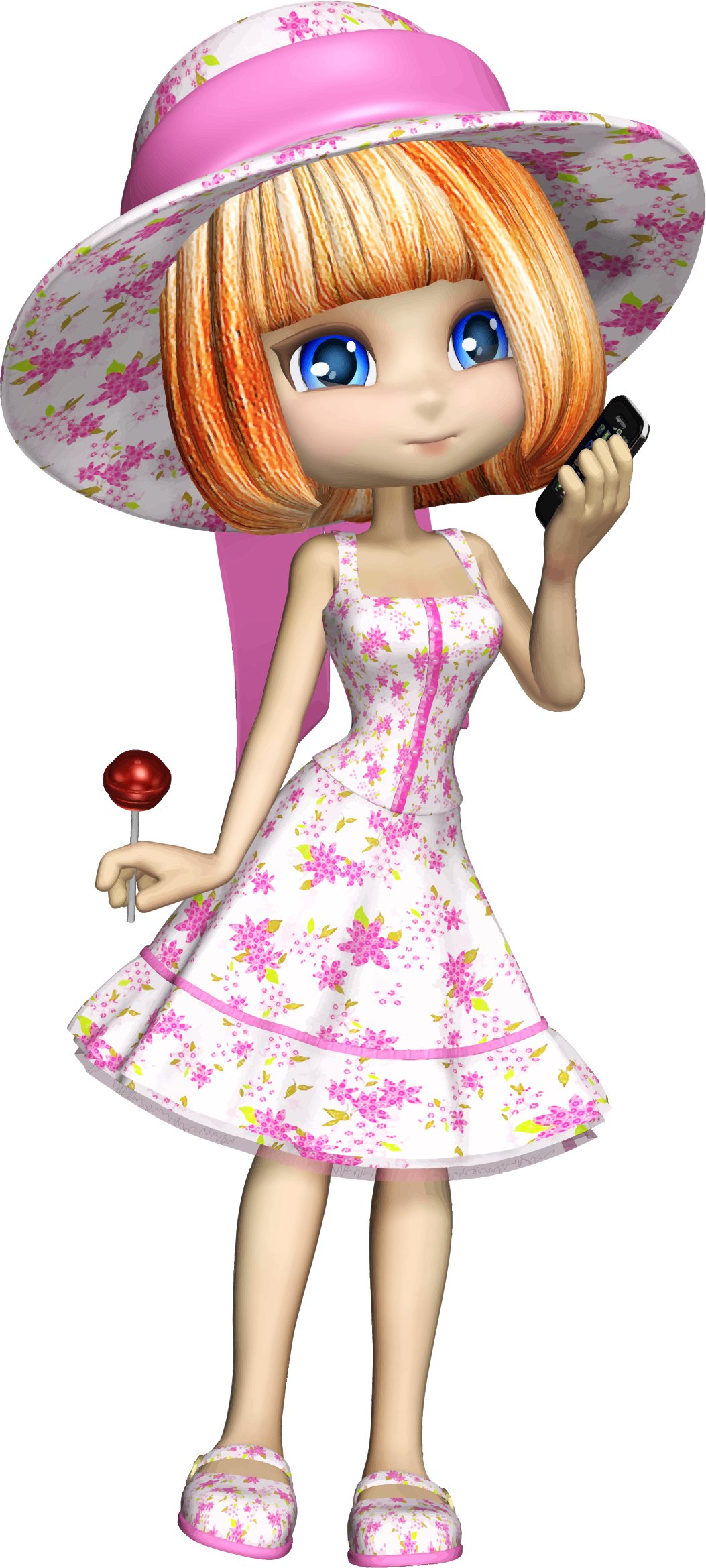Cartoon girl big image. Cool clipart fashionable