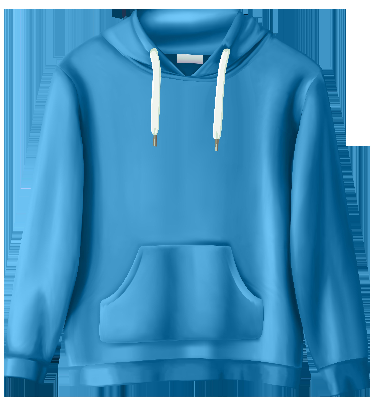 Hoodie clipart pullover hoodie. Blue sweatshirt png clip