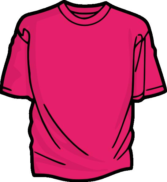 Clipart shirt vector. Pink t clip art