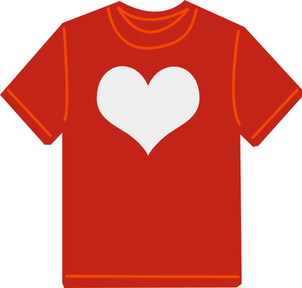 Red t clip art. Clothing clipart shirt