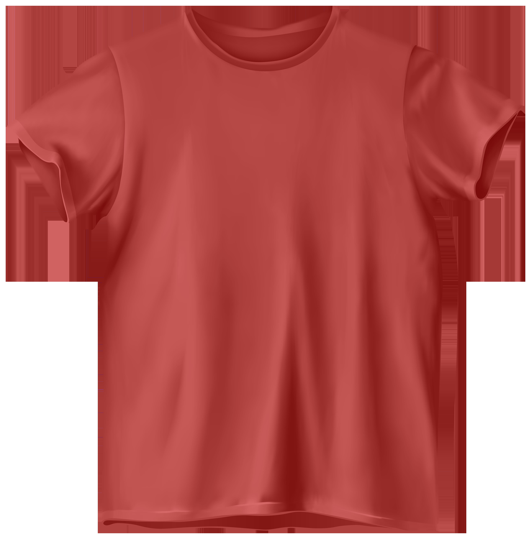 Red t png clip. Clipart shirt orange shirt