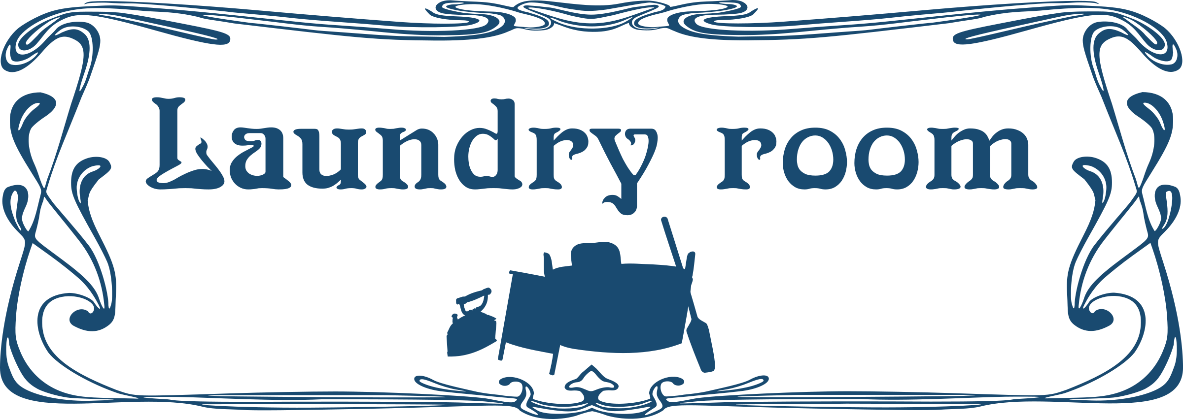 Clipart door room door. Laundry sign big image