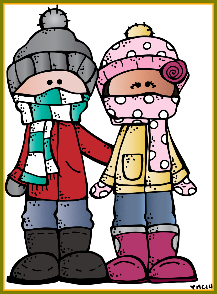 Incredible melonheadz illustrating happy. Clothing clipart winter