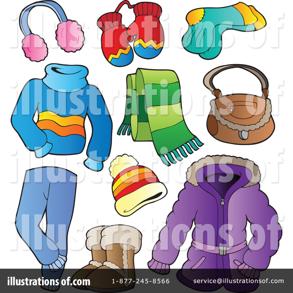 Clothes illustration by visekart. Winter clipart apparel